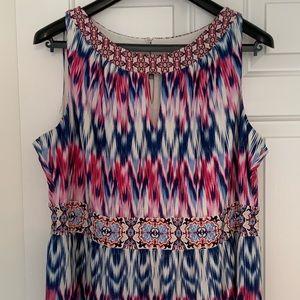 🆕LONDON TIMES Women's Plus-Size Halter Maxi Dress